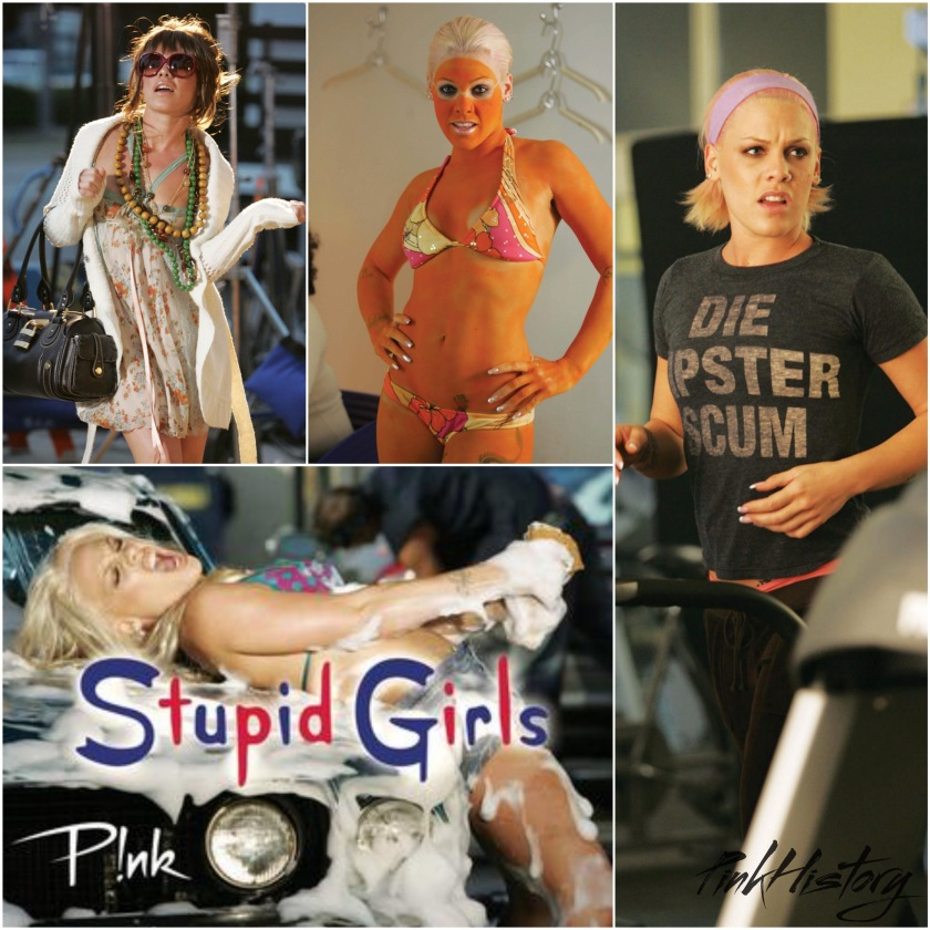 analysis of pinks stupid girls Stupid girls (registered on pnk's bmi as stupid girl) is a song by american artist pnk, released as the first single from her 2006 album, i'm not dead the song was written by billy mann, pnk, niklas olovson and robin mortensen lynch and produced by billy mann and machopsycho.